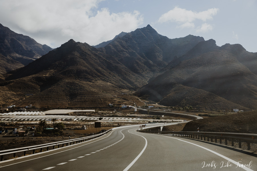Gran Canaria, highway on the west