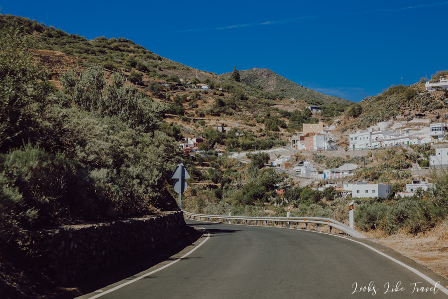 route through small, white towns, Gran canaria