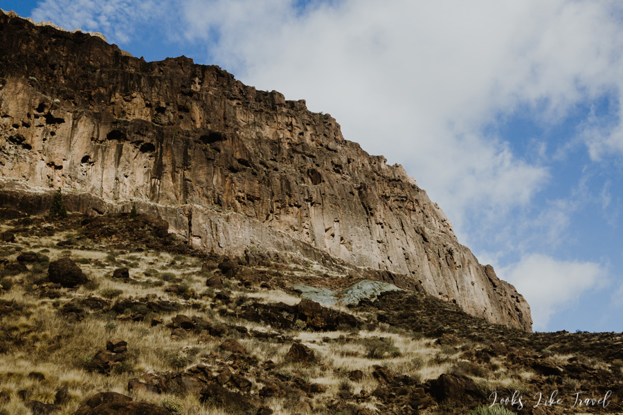 mountains and Canarian rocks
