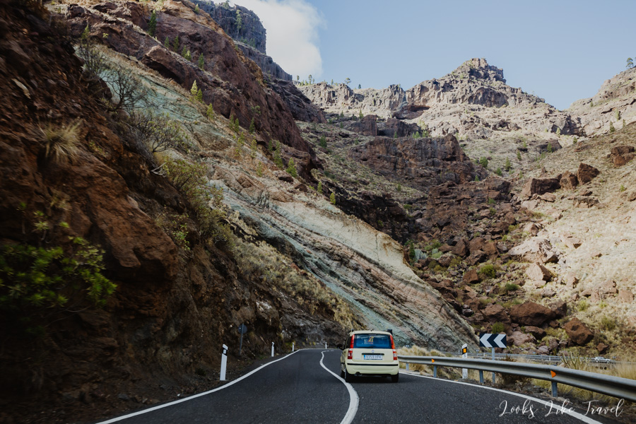 colorful rocks of Gran Canaria