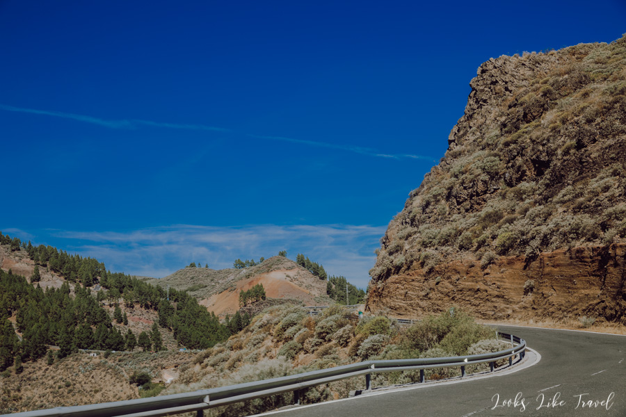 curvy roads on Gran canaria