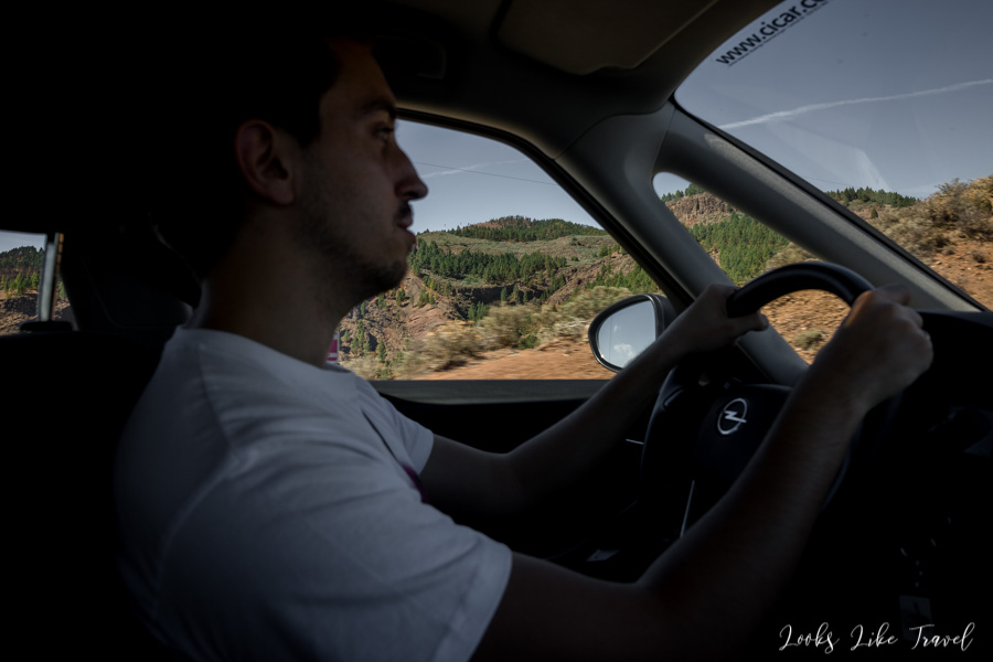 by car in the Canary Islands