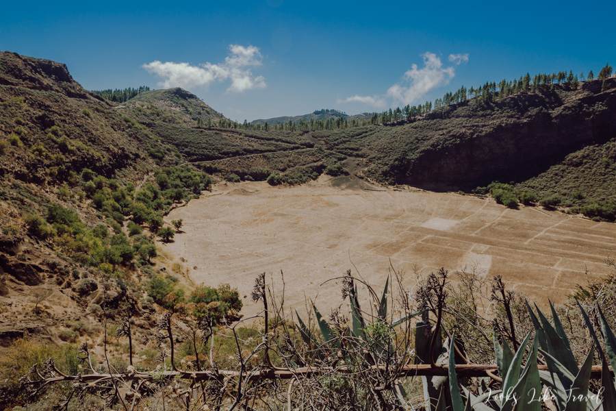 view of the Caldera of Los Marteles, Gran Canaria