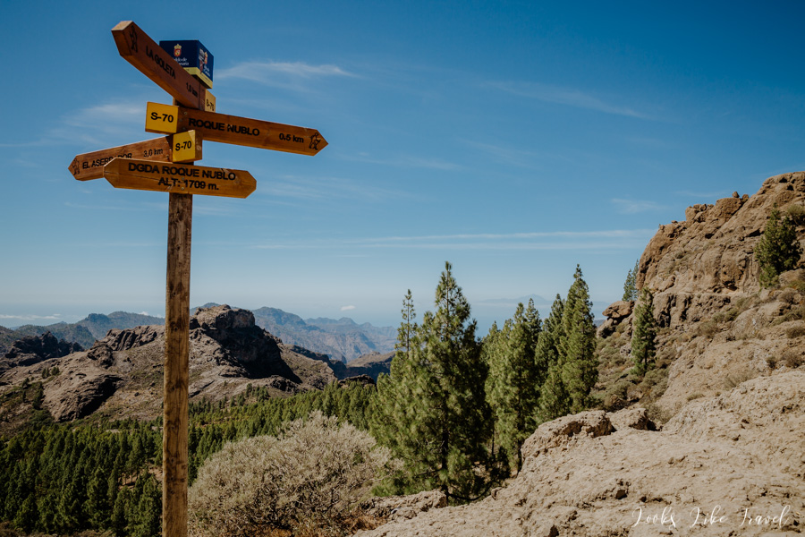 possible routes on Gran Canaria - a sign