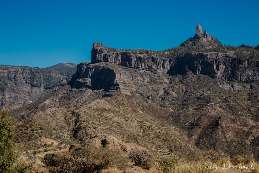 Roque Nublo and Pico de las Nieves - landscape