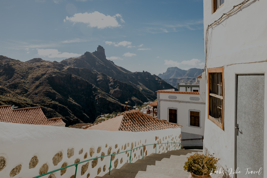 Gran Canaria - stairs to the center of Tejeda