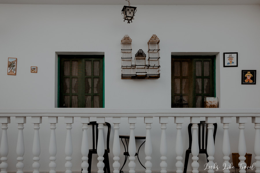 a beautiful terrace and green shutters in Gran Canaria