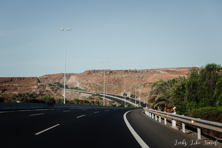 road towards Maspalomas