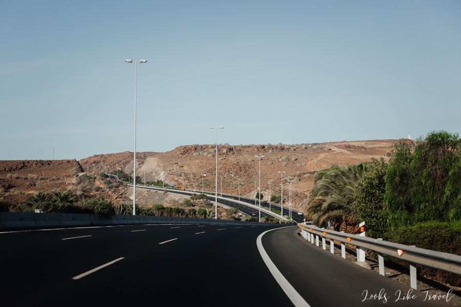 droga w kierunku Maspalomas