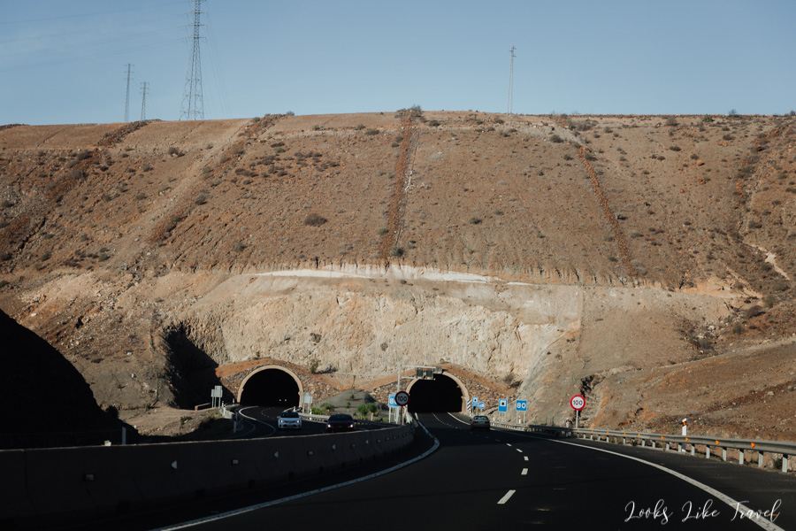 tunnels on the Gran Canaria highway