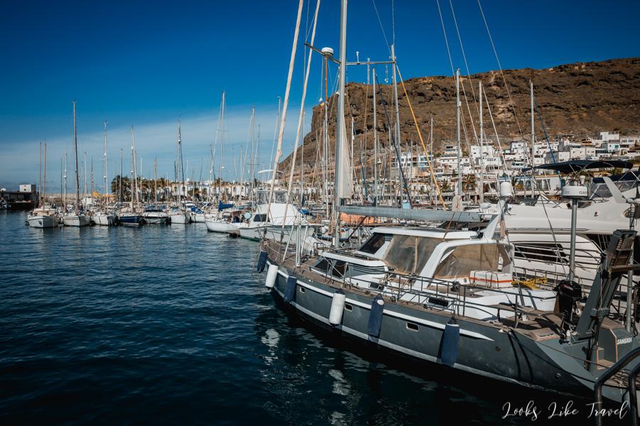 piękny port na Gran Canarii