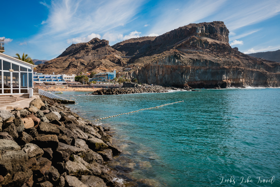 Gran Canaria, view of the cliffs and the beach