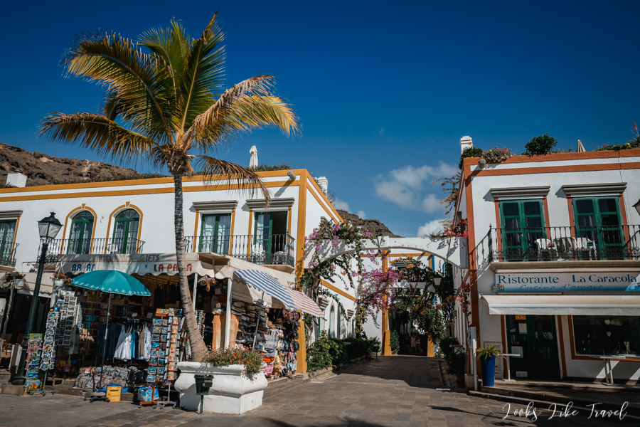 white and colorful Spanish town