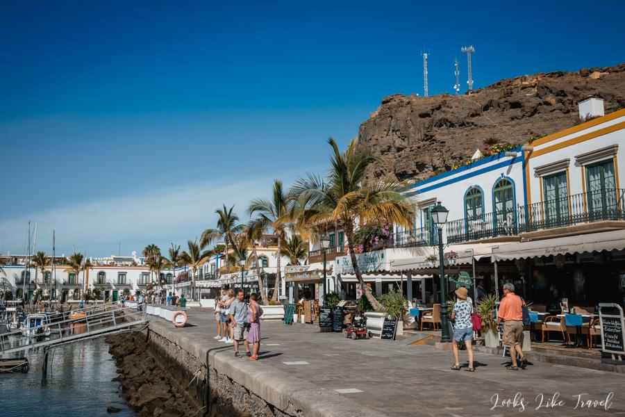 spacer po porcie, Puerto de Mogan