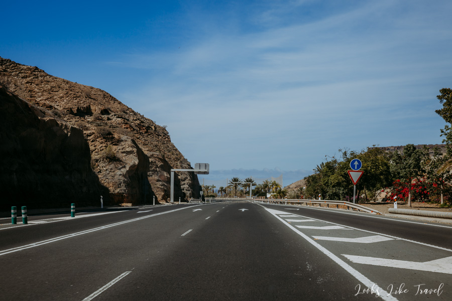 road on the south of Gran Canaria