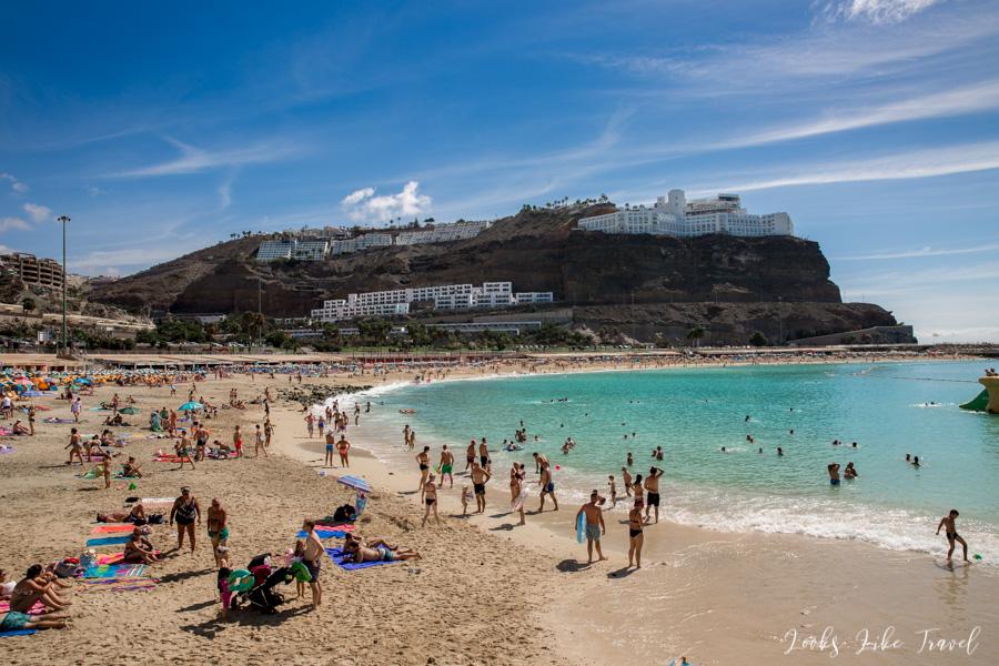 luksusowa plaża de Amadores na Gran Canarii