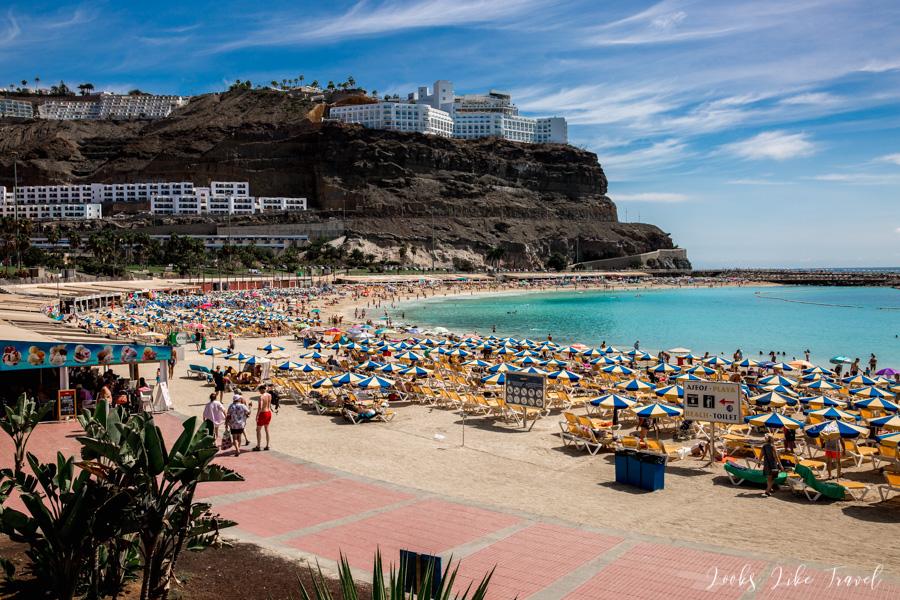 blog podróżniczy- Playa de Amadores z góry