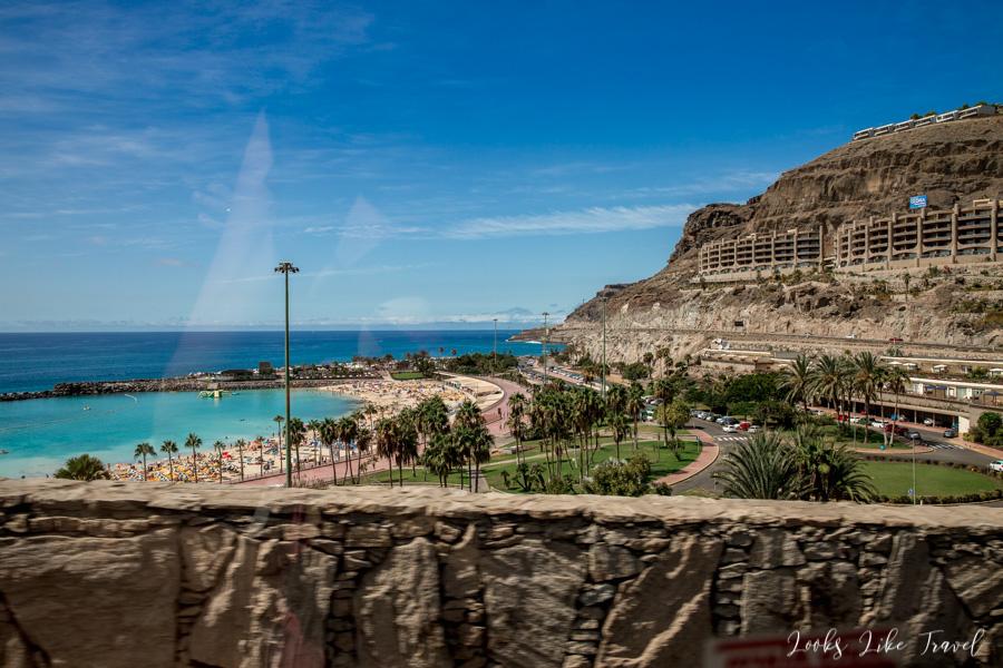 droga wzdłuż oceanu, Gran Canaria