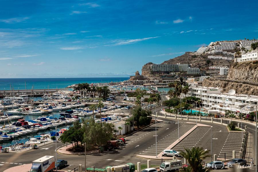Puerto Rico de Gran Canaria - parking przy porcie