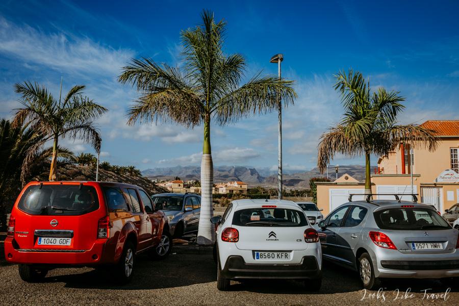 parking w pobliżu Maspalomas