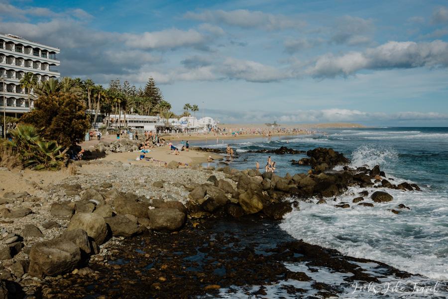 początek plaży Maspalomas