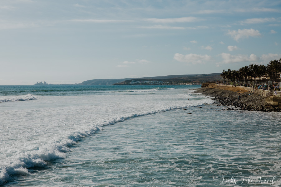 widok na ocean z Paseo de las Meloneras