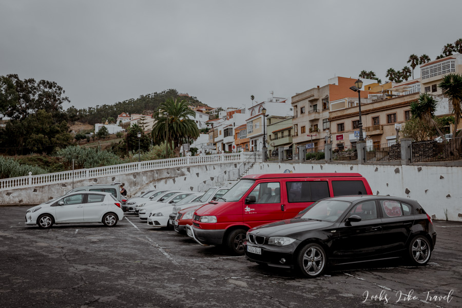 where to park in Firgas, Gran canaria