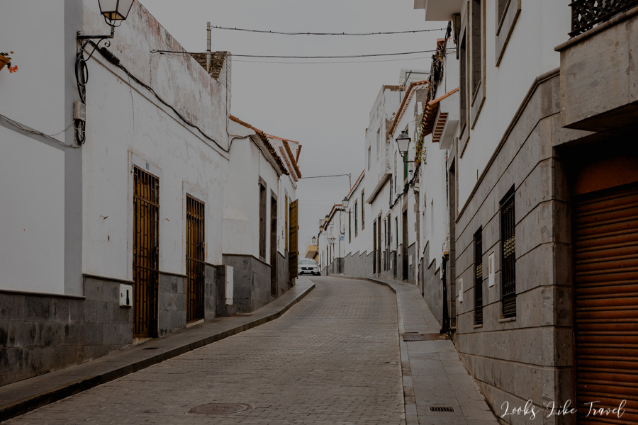 narrow streets in Gran Canaria