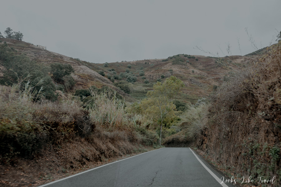 the road from Firgas to Teror