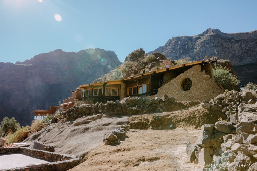 a scenic restaurant on Gran Canaria