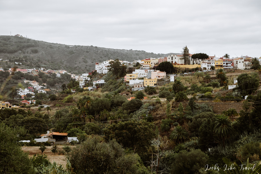 view from the Santa Brigida car park