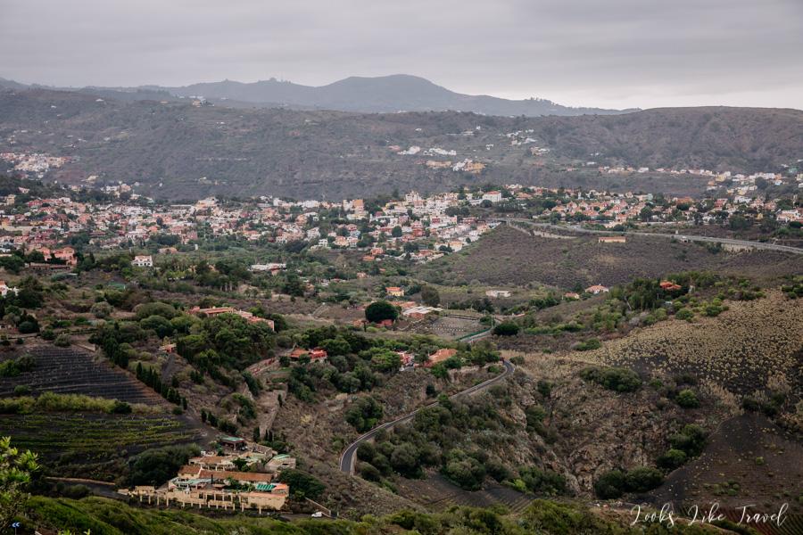 view from Pico De Bandama