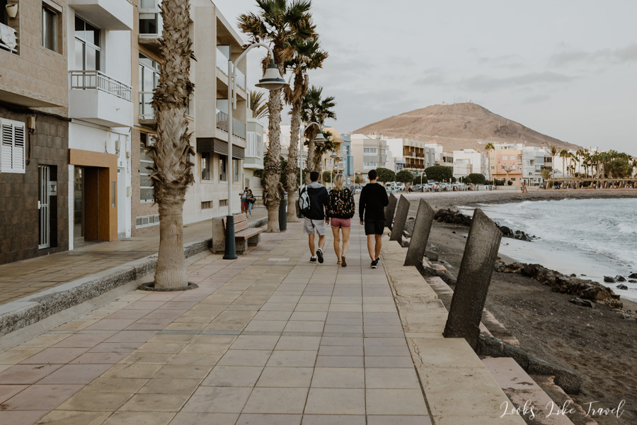 promenade in the city of Arinaga