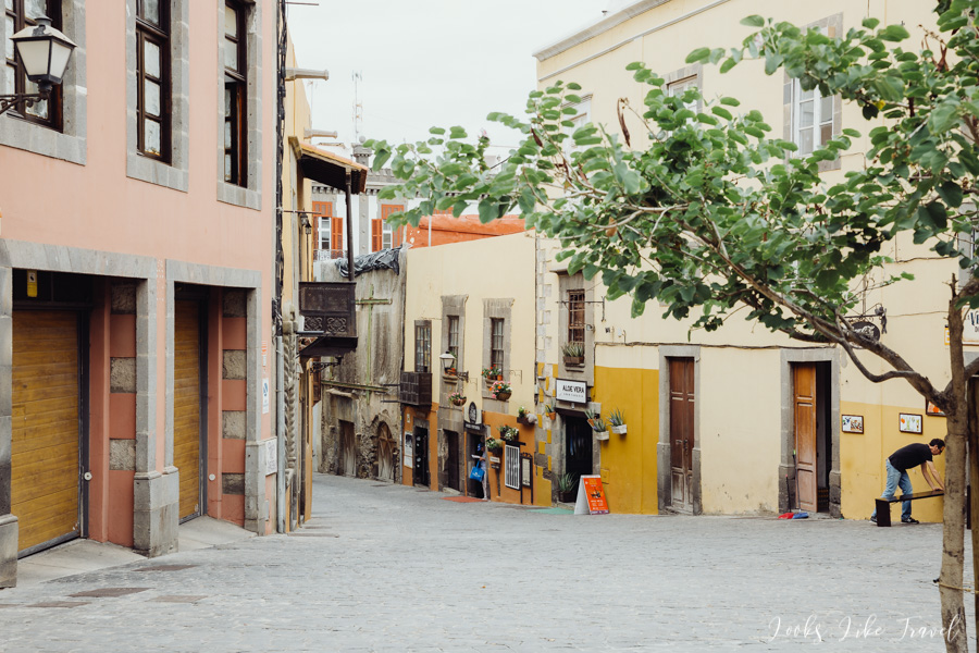 charming streets in the Vegueta district