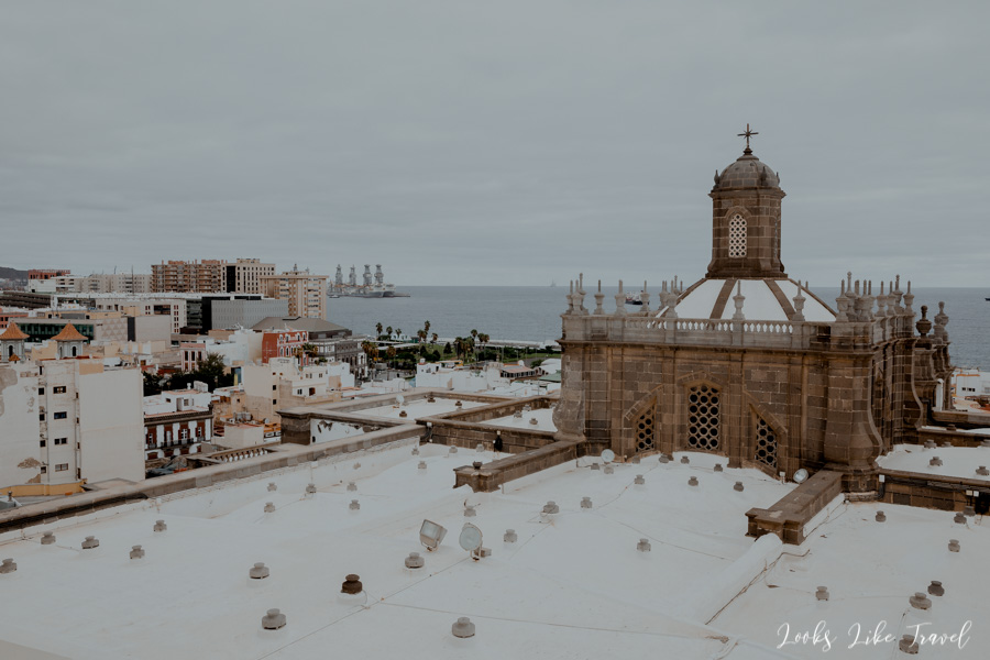 the roof of the Las Palmas cathedral