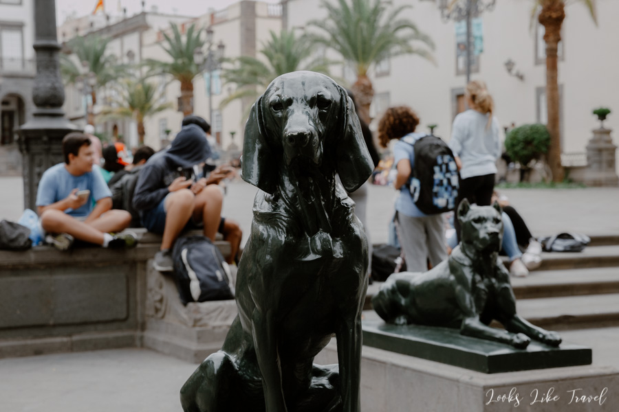 Gran Canaria dogs statues