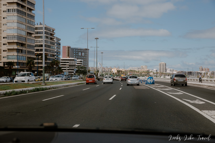 highway in Las Palmas de Gran Canaria