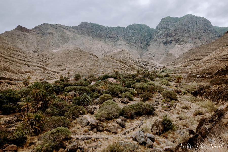 Barranco de Guayedra krajobraz