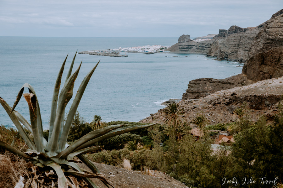 Barranco de Guayedra - view of Agaete