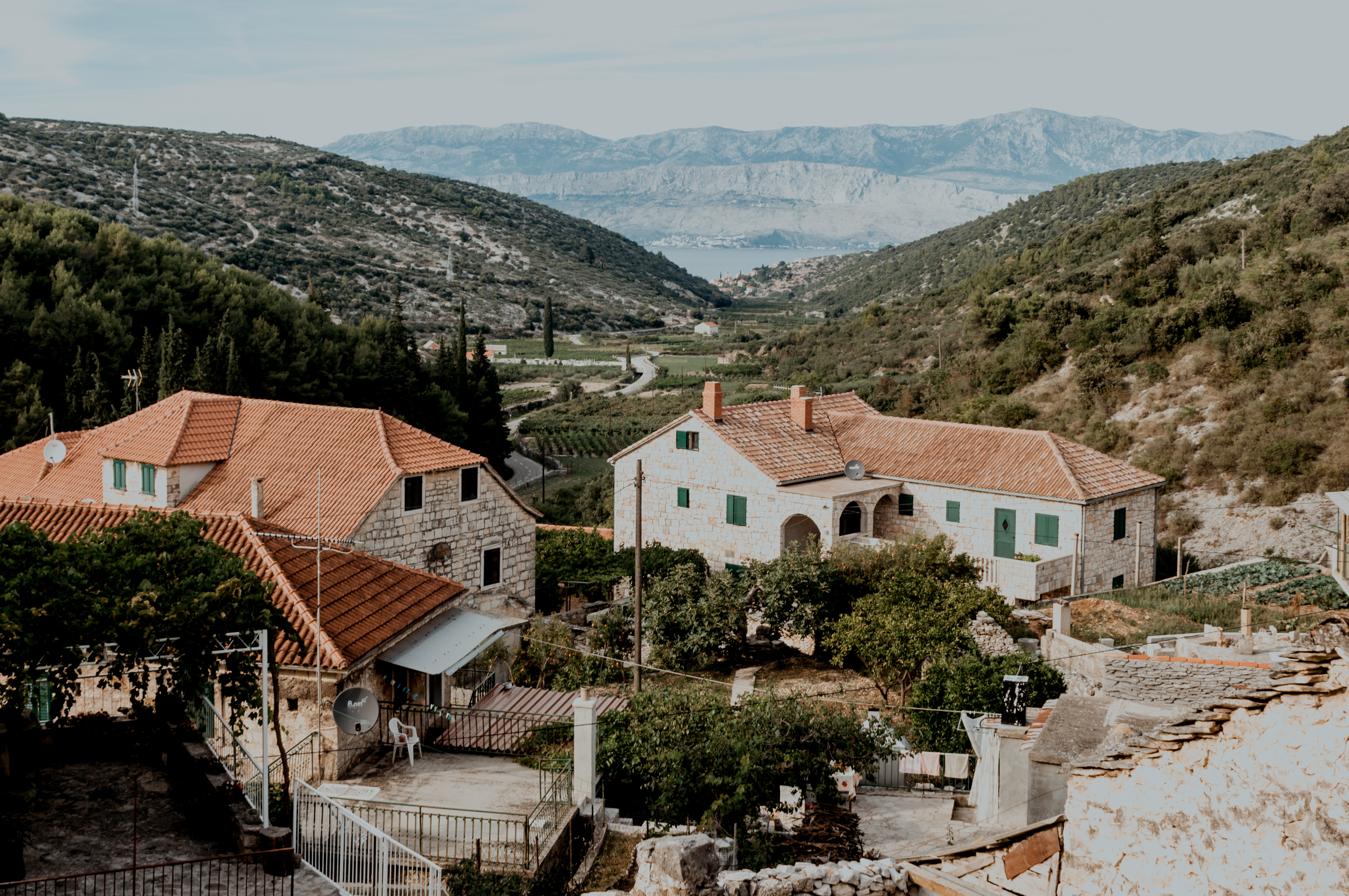 Chorwacja, wyspa Brač, dzień 2- Splitska, Postira, Dol, Škrip