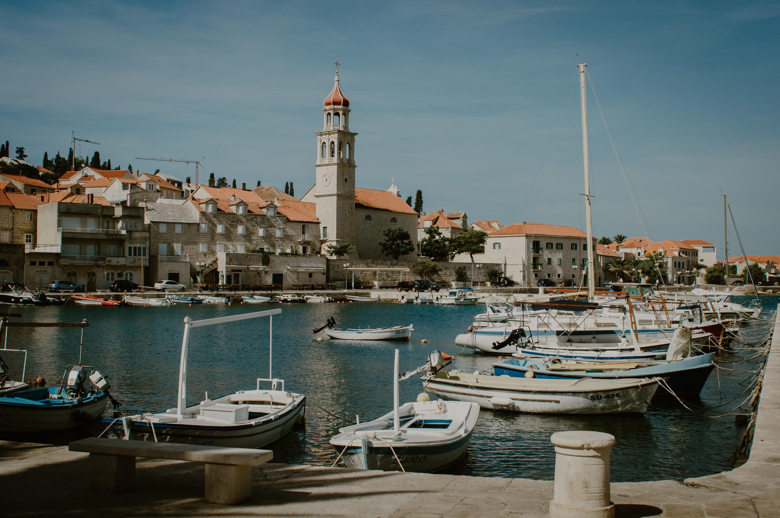 Chorwacja, wyspa Brač, dzień 3- Sutivan, Ložišća, Bobovišća na Moru