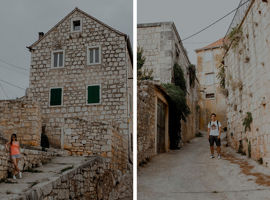 Croatian houses and streets