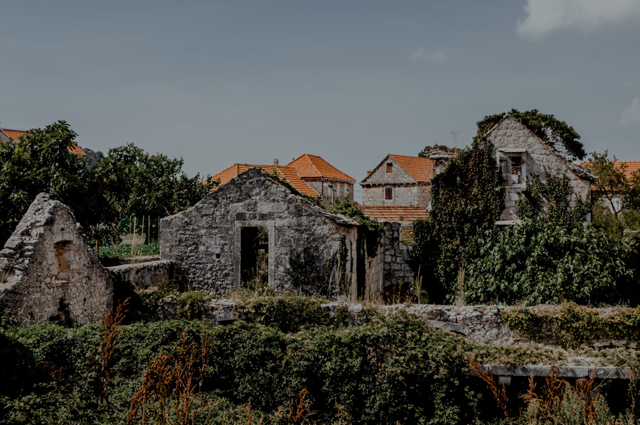 old ruins in Croatia - Nerežišća