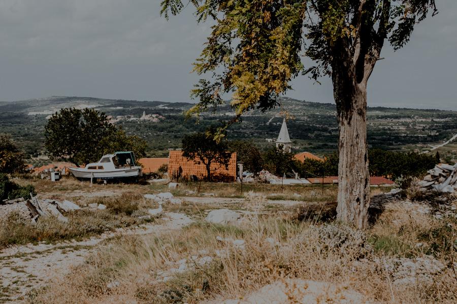 Nerežišća, górna część miejscowości