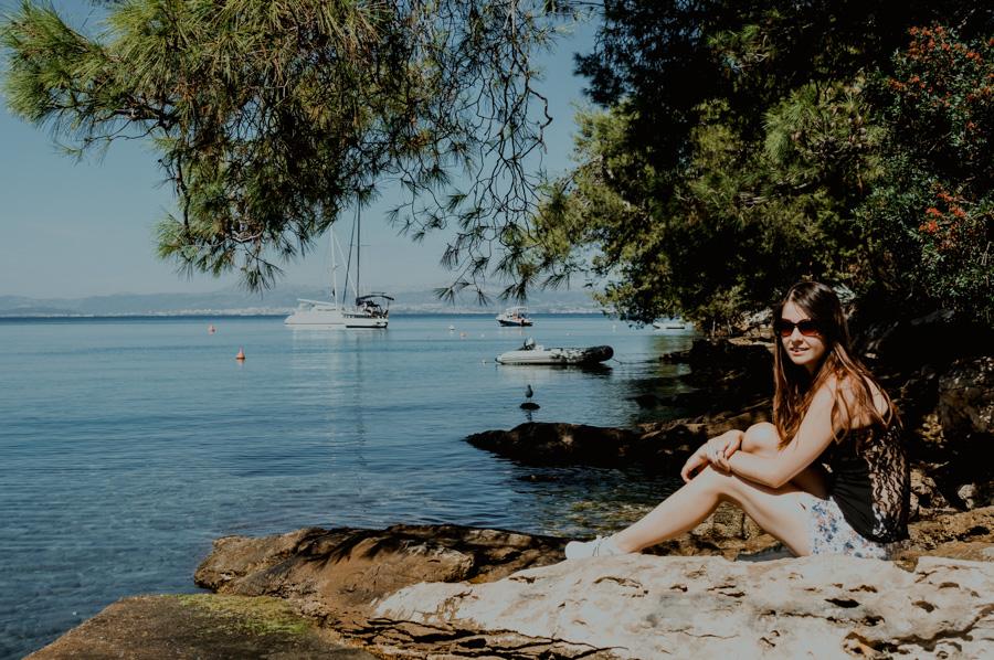 Splitska, widok na zatokę i morze