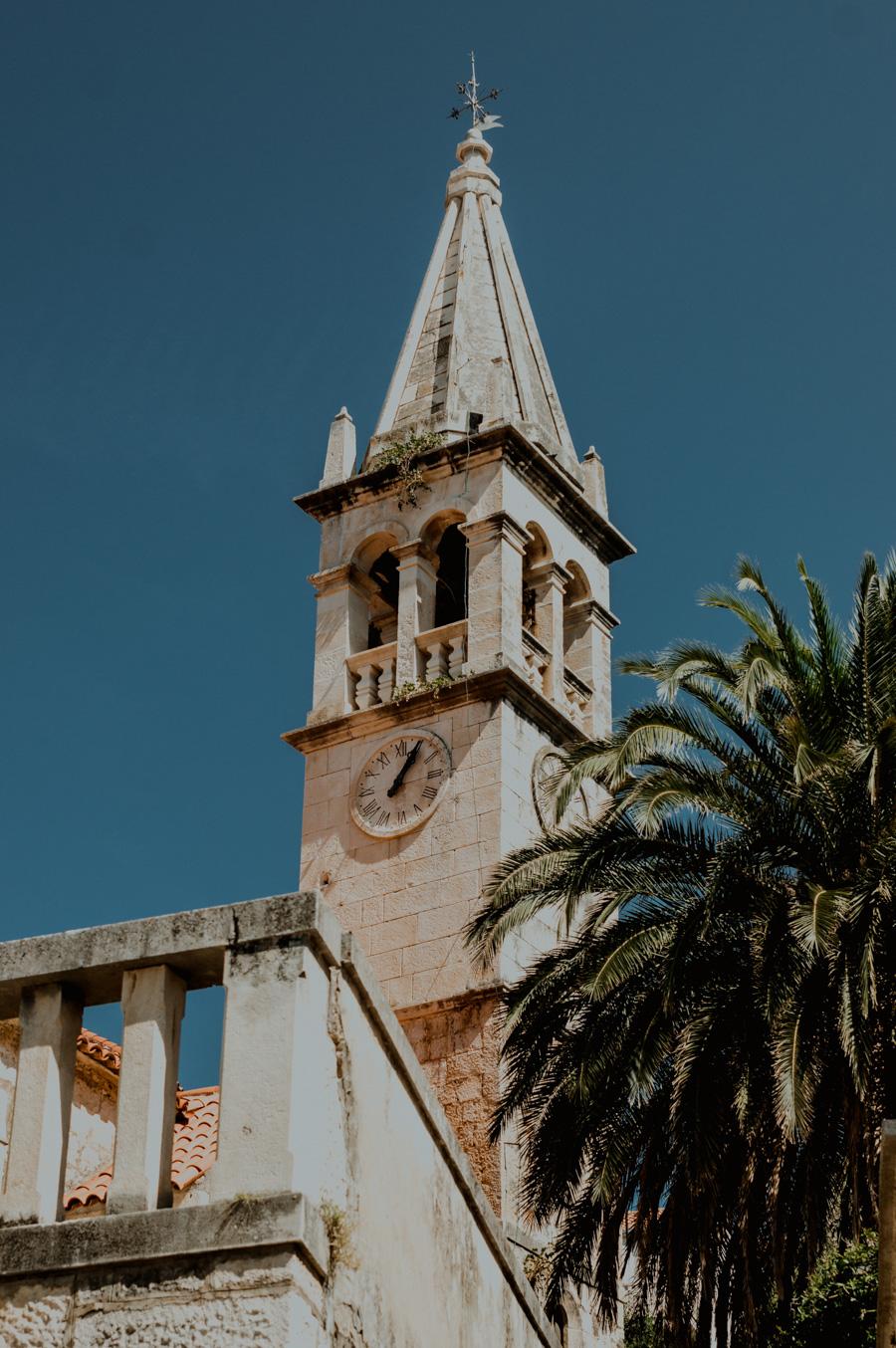 wieża kościoła w Splitska, Brač