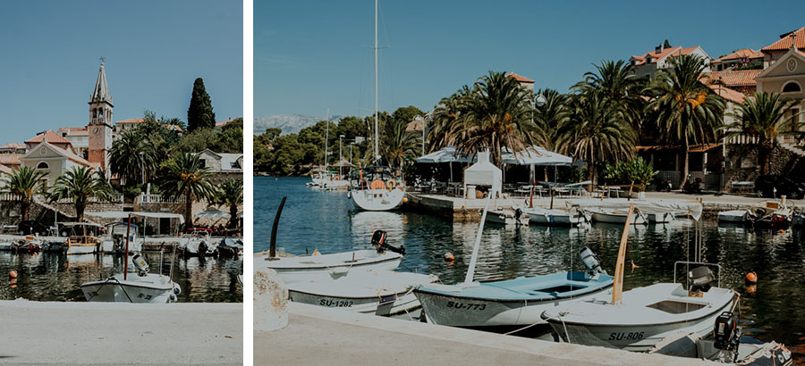 coastal towns, Brač island