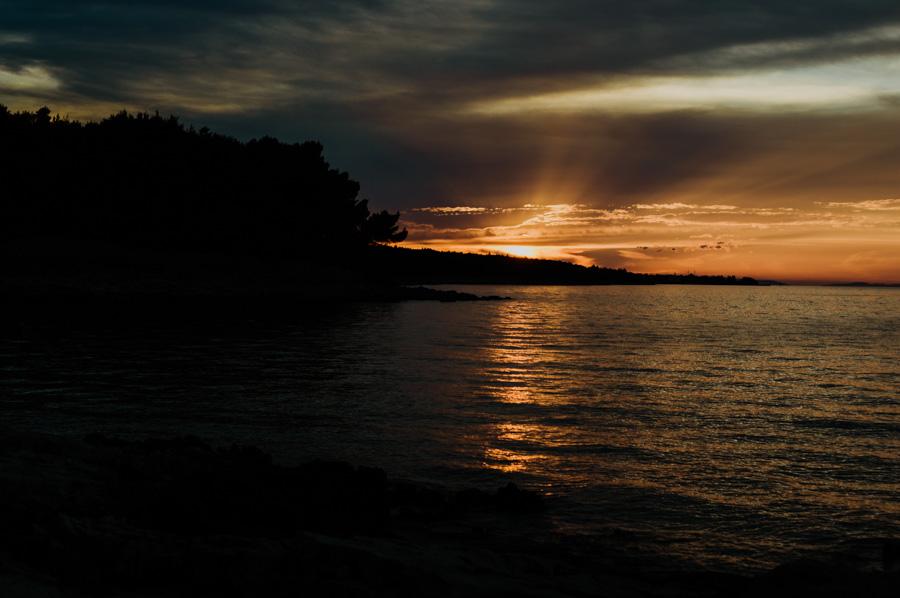 zachód słońca na wyspie Brač