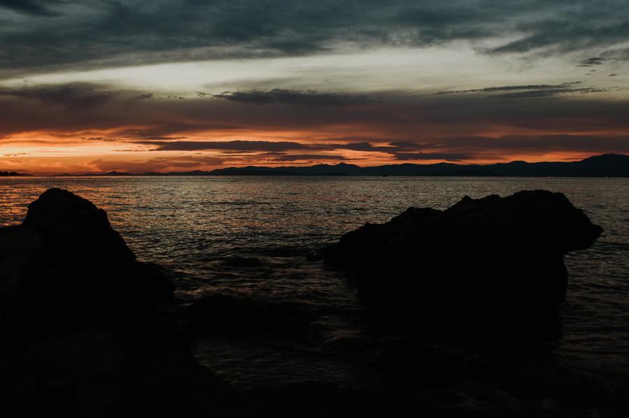 zachód słońca nad morzem, Chorwacja