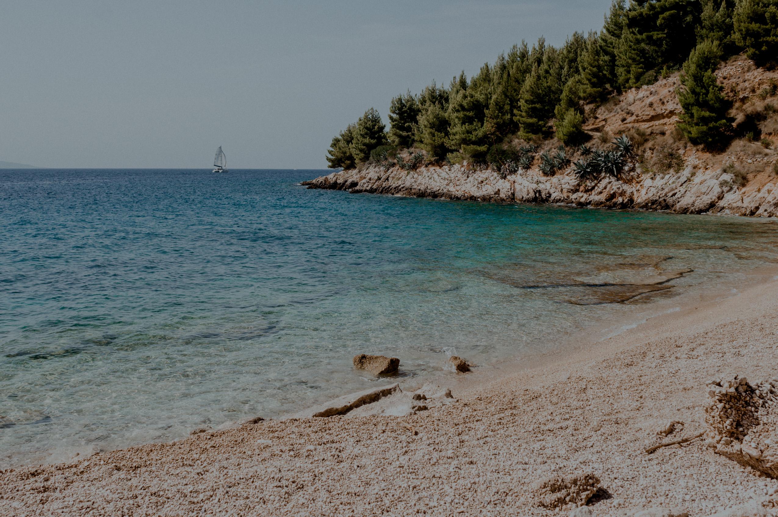 Chorwacja, wyspa Brač, dzień 7- zatoki w Murvica, Uvala Luka, Sutivan
